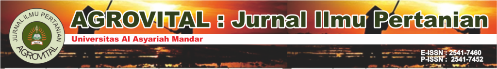 Agrovital : Jurnal Ilmu Pertanian